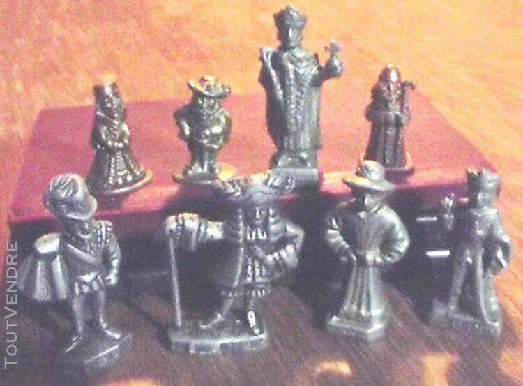 Lot de rois de france kinder métal