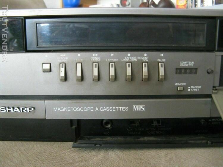 Magnetoscope sharp vc-7300f +de 20 cassettes cadeau