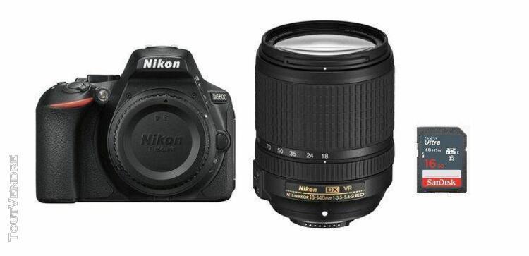 Nikon d5600 compact 24.2 mpix + kit af-s 18-140mm f3.5-5.6g