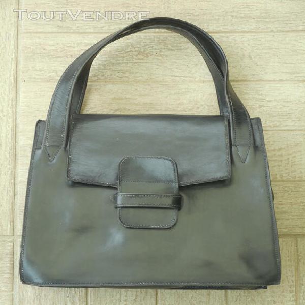 Sac vintage cuir noir