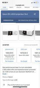 Vidéo-projecteurs epson eb-l400u - neuf