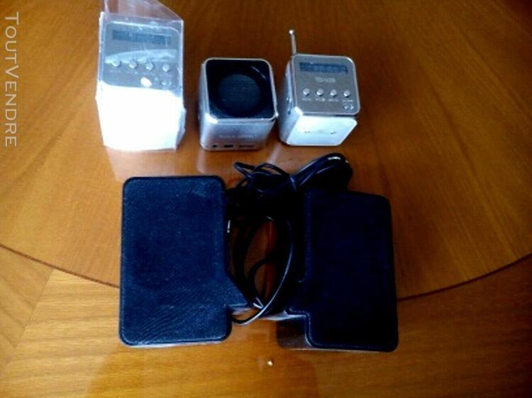 5 enceintes mini radio usb sd