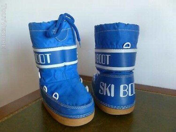 Apres ski boot de neige enfant bleu roy t. 29 / 31 etat d'us