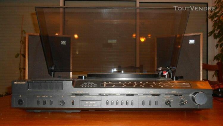 Ensemble électrophone radio et k7 hitachi sdt-7825