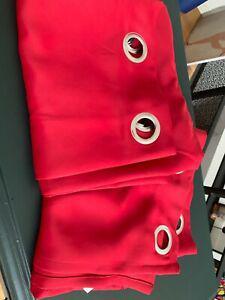 Paire de rideaux occultants rouge 260x140 exclt état