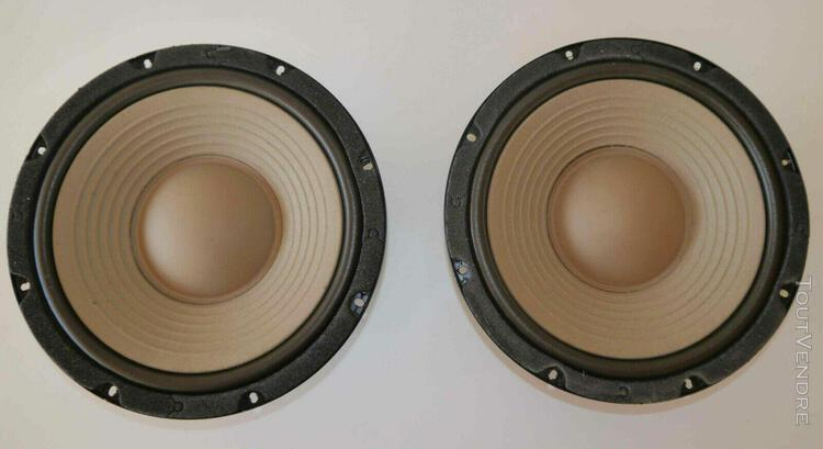 Rare: 2 x haut parleurs boomers gauer ea 553 - 8 ω