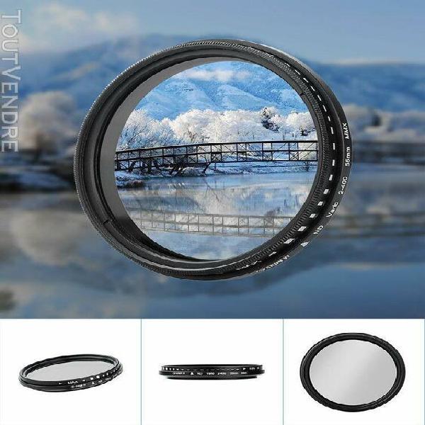 Shun yi nd2-400 55mm réglable densité neutre fader filtre