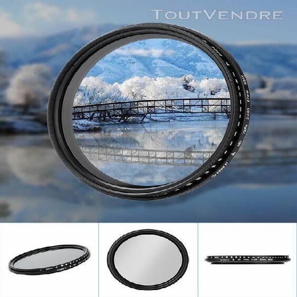 Shun yi nd2-400 67mm réglable densité neutre fader filtre