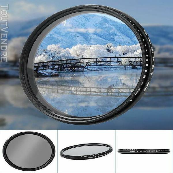 Shun yi nd2-400 82mm réglable densité neutre fader filtre