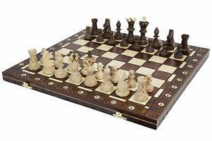 1 coffret plateau jeu d'échec ambassador en bois neuf