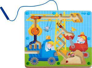 1 jeu magnétique en bois - sur le chantier - haba (2 ans+)