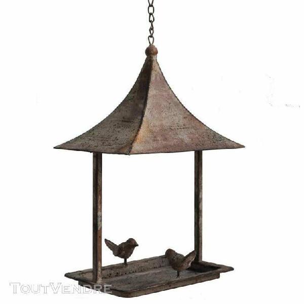 Bain à oiseau style pagode nichoir mangeoire oiseaux avec