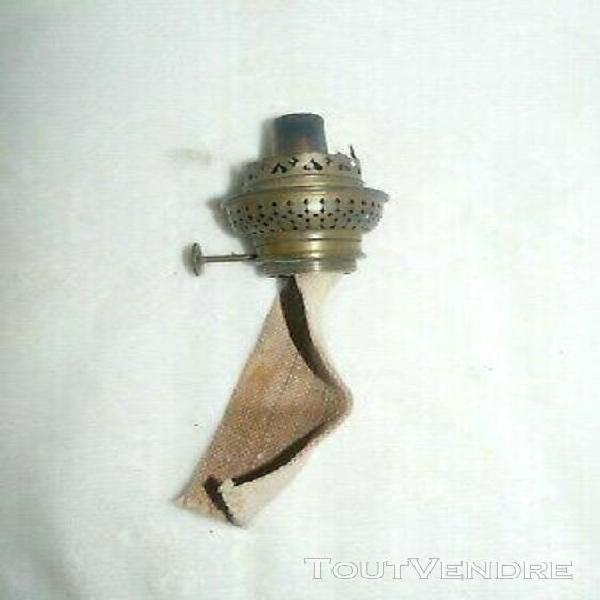 lampe pétrole ou huile 5 cm X 21 cm oil lamp Ancienne Mèche plate pour bobèche