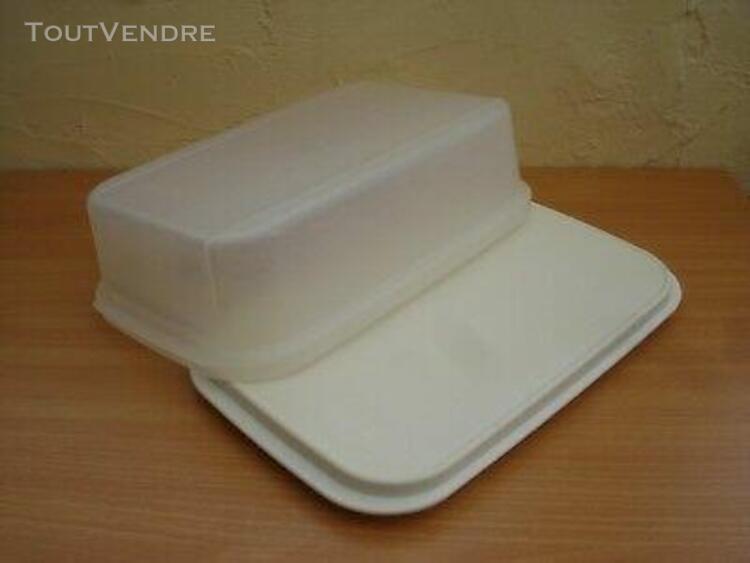Tupperware grande boîte rigide fond guilloché réversible