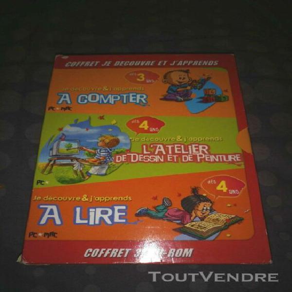 Coffret 3 cd roms apprentissage enfants maternelle