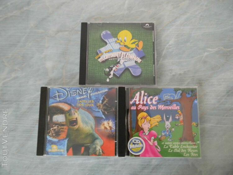 Lot 3 cd de jeux pc/mac pour enfants