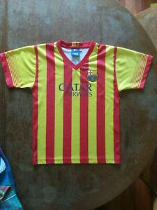 Maillot fc barcelone messi taille 8 ans rouge et jaune