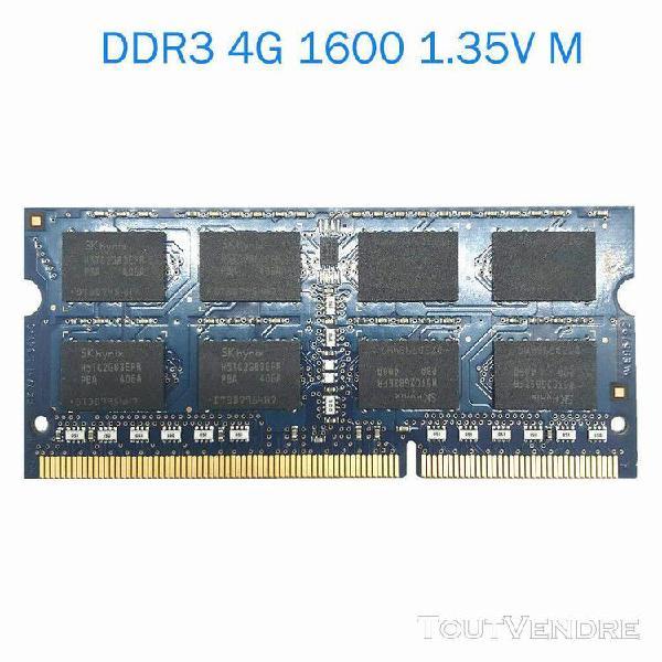 Mémoire d'ordinateur portable notebook ram ddr3 4 go