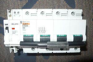 Disjoncteur tetrapolaire 80 amperes, 4 poles 80a. merlin