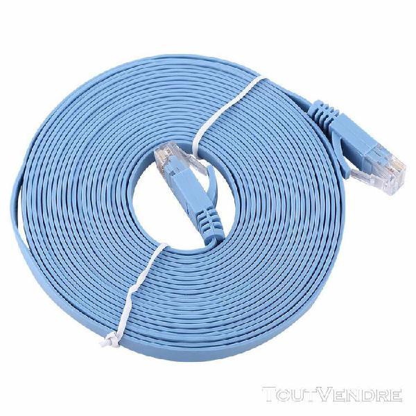 1000m câble réseau ethernet rj45 cat6 lan plat utp patch