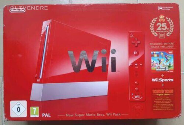 Console nintendo wii - pal - 25th anniversary mario bros - r