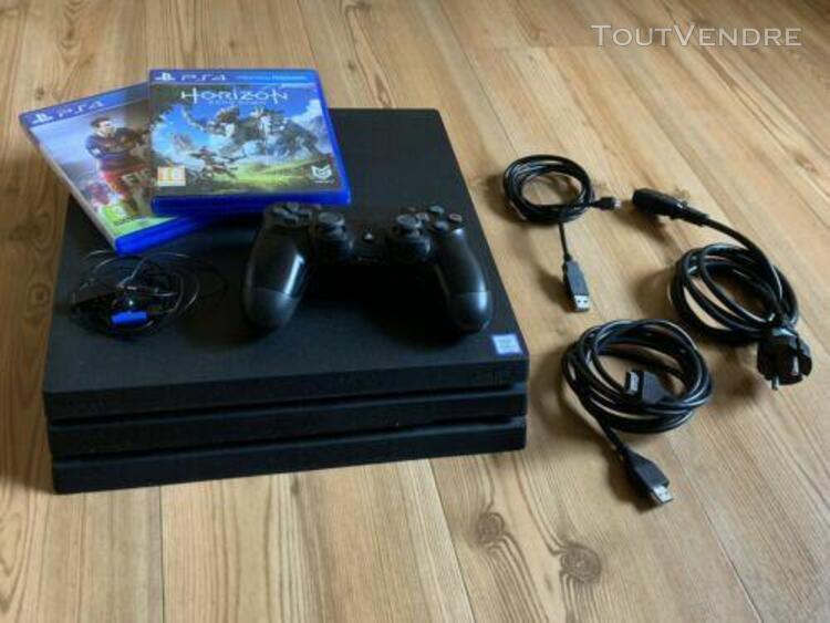 Console ps4 pro 1 to jet black + 2 jeux: fifa 16 et horizon