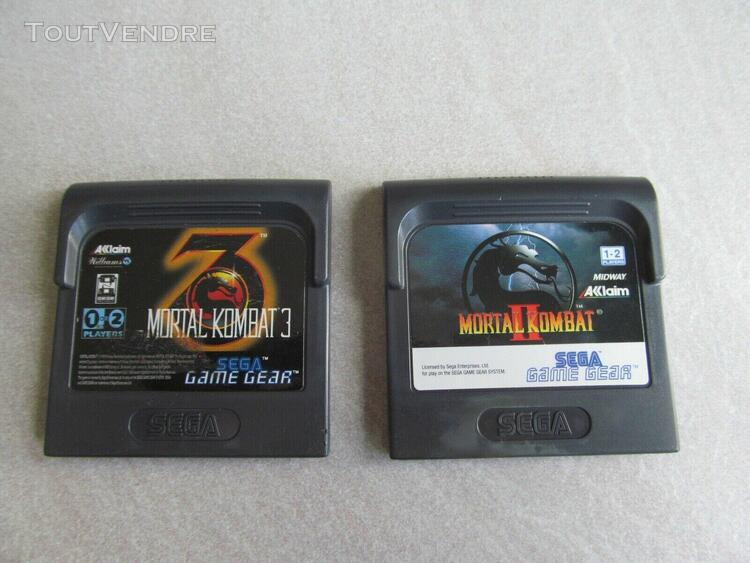 Jeux lot mortal kombat 2 + 3 sega game gear gg