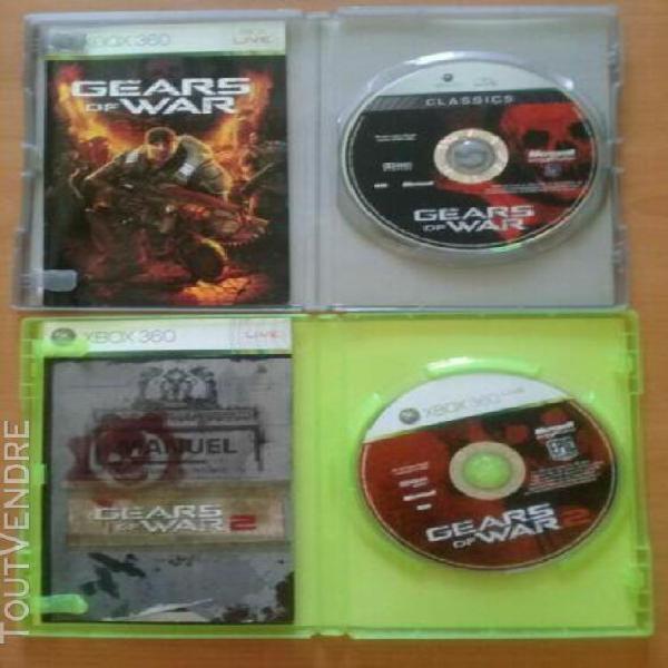 Jeux xbox 360 gears of wars 1 et 2