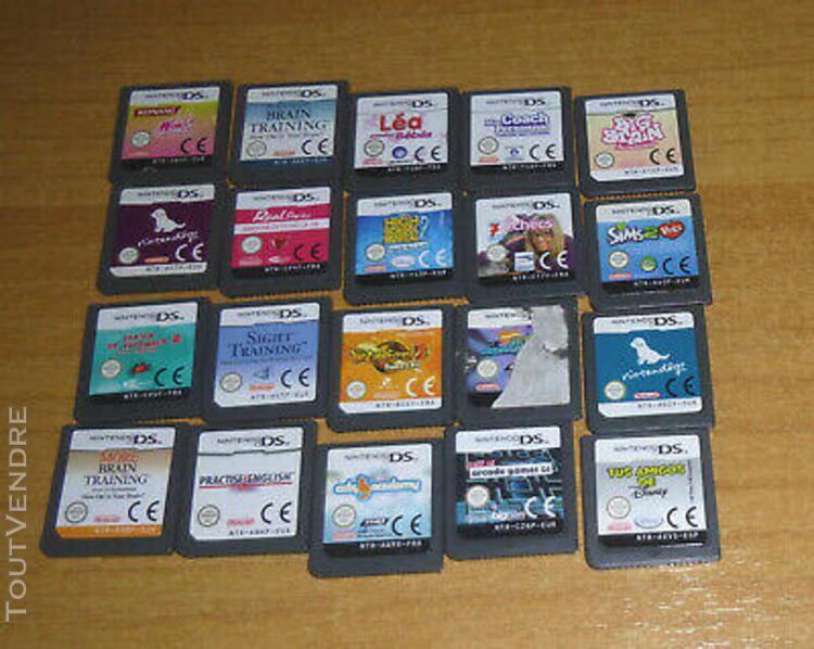 Lot de 20 jeux nintendo ds - inazuma nintendogs sims disney