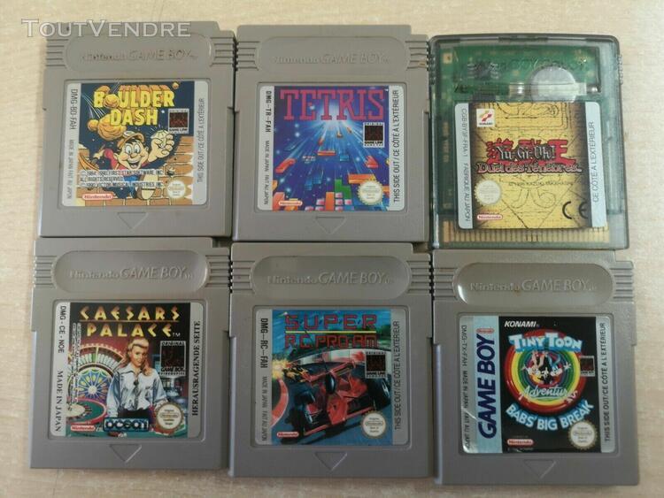 Lot de 6 jeux game boy