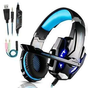 Micro casque gaming ps4, gamer stéréo lumière bass
