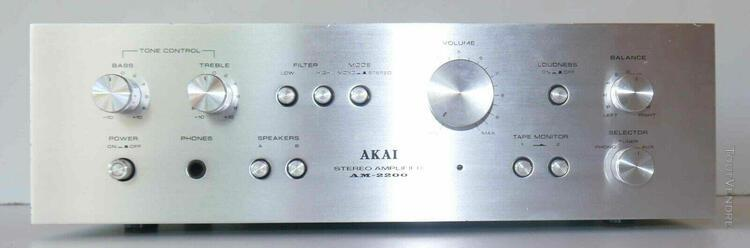 Amplificateur stéréophonique vintage akai am-2200