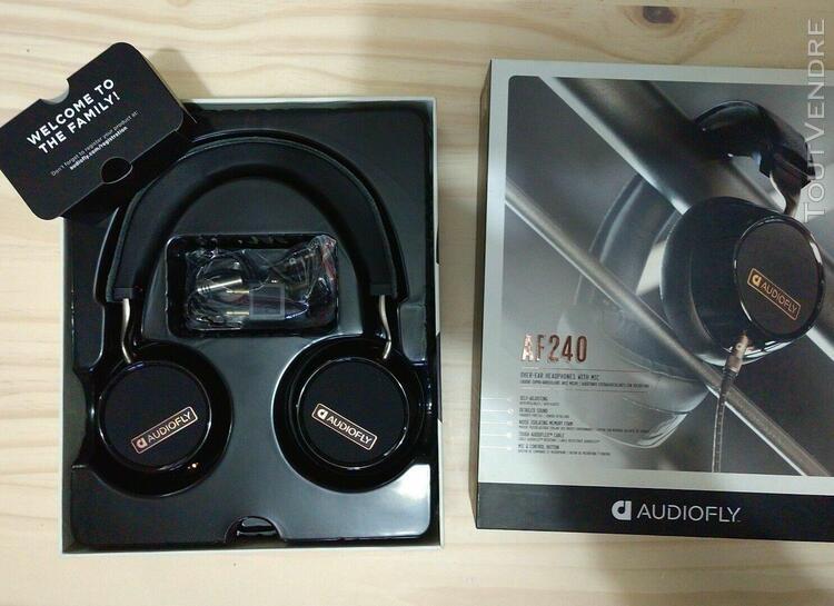 Audiofly af240 casque supra-auriculaire noir avec microphone