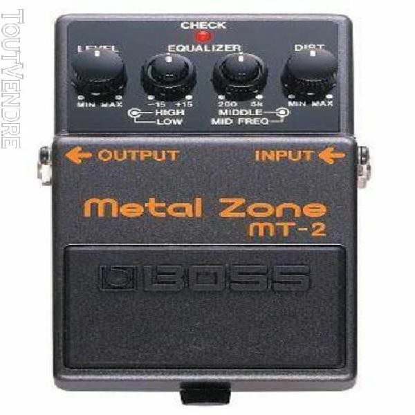 Boss metal zone mt-2 - pédale d'effet distortion