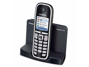 gigaset c470 téléphone sans fil dect/gap noir