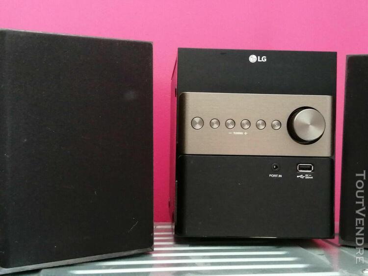 Micro chaine lg x boom hifi stéréo lecteur cd-noire