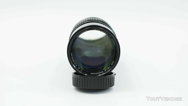 Minolta objectif md tele rokkor 1:4 f=200 mm no:1207347