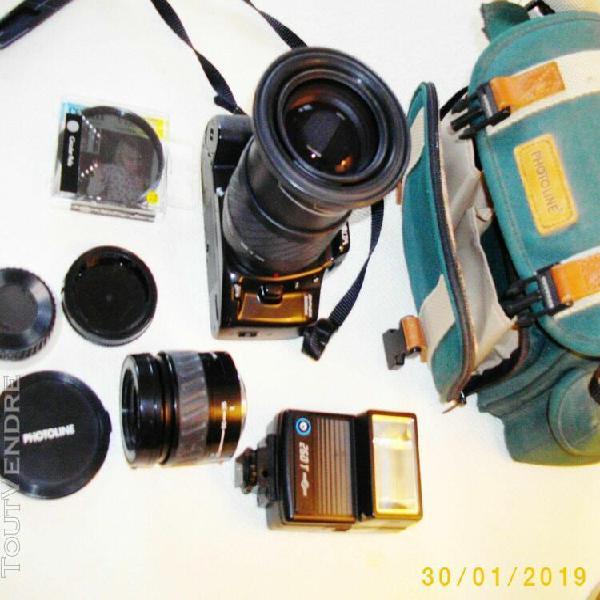 Photo argentique minolta reflex dynax 500si - 2 objectifs pr