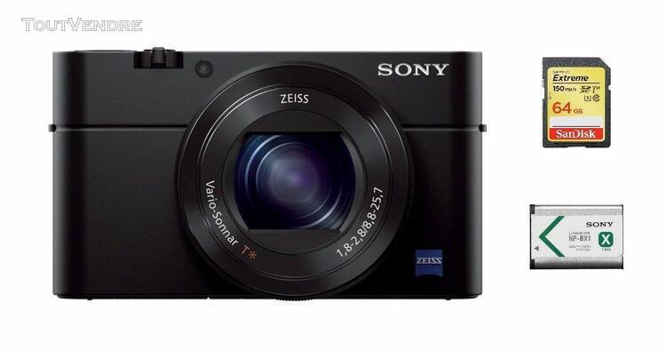 Sony cyber-shot rx100 iii compact 20.1 mpix + sd 64go + np-b