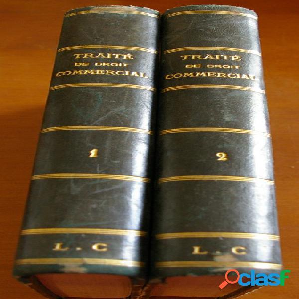Traité de droit commercial - des sociétés (2 volumes), lyon-caen et renault