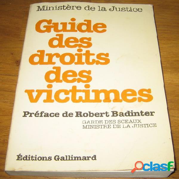 Guide des droits des victimes, ministère de la justice