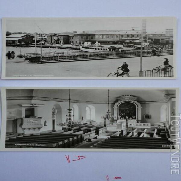 2 cpsm uddevalla - sweden - kyrkan et hamnstationen