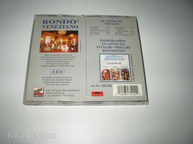 Cd rondo veneziano le genie de vivaldi pub tv / 9 titres 199