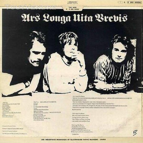 "Nice ""ars longa vita brevis"" orig fr 1968 keith emerson"