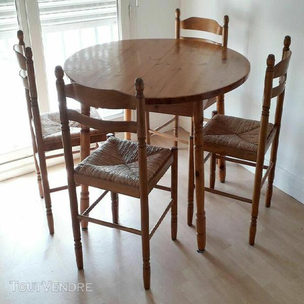 Table rallonge chaises cuisine offres novembre clasf - Table cuisine pin ...