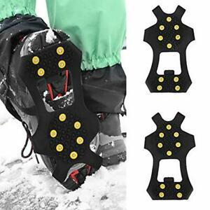 VGEBY 2pcs Crampons /à Neige Glace Antid/érapant Crampons Couvre-chaussure /à 4 Crochets Griffes avec Sac de Rangement pour Ski Randonn/ée Escalade