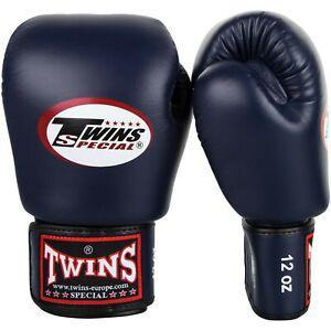 2 gants de boxe twins special 12 oz - bleu marine neuf