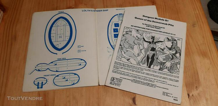Ad&d - module q1 - queen of the demonweb pits - dungeons - e