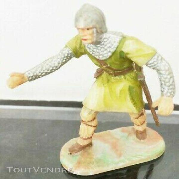 Elastolin ougen moyen age, chevalier, manieur de catapulte,