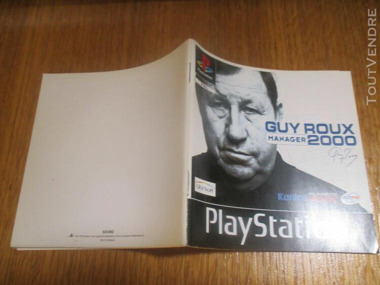 Guy roux manager 2000 ~~ notice seule ps1 (no game)